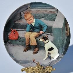 Porcelánový tanier Unfair Konkurrence , Copenhagen Porcelain 21 cm + obal