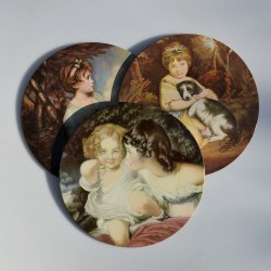 predané Sada - 6 ks podložky pod taniere Ruže, Pimpernel, v pôvodnom balení, 22x19,5 cm