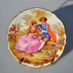 Porcelánový tanierik LIMOGES, Dáma a gavalier 10 cm