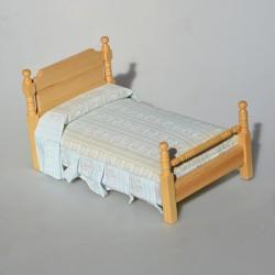 ? 1:12 Drevená detská posteľ  do domčeka pre bábiky