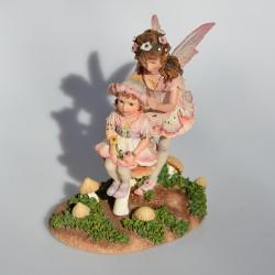 Zberateľská resinová soška Foxglove Fairy, Leonardo 14x7,5x6 cm