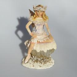 Zberateľská resinová soška Little Blossom Fairy, Leonardo 13,5x11x7,5 cm