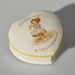 Porcelánová šperkovnička - vajíčko Pávy, Total Elegance 9x6 cm