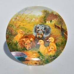 predane Porcelánový tanier Stockenten im Anflug, Bavaria 19,5 cm + certifikát