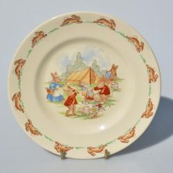 Zberateľský porcelánový tanier Bunnykins, ROYAL DOULTON 20,5 cm