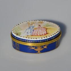 Zberateľská porcelánová šperkovnička E.P34, Del Prado 4,5x5 cm
