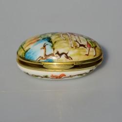 Zberateľská porcelánová šperkovnička E.P33, Del Prado 4,5x3 cm