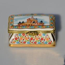Zberateľská porcelánová šperkovnička E.P25, Del Prado 6x4x2,5 cm