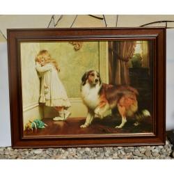 Obraz - print Naughty Boy, Briton Riviere 52,5x42 cm