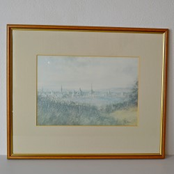 Veľký starý obraz - print Married for Love, Marcus Stone 64,5x49 cm, ošuch na ráme, zvlnený