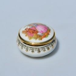 Porcelánová šperkovnička Limoges B34, 1,5 x 6 cm