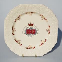 Porcelánový tanier Silver Jubilee - Queen Elizabeth II. - Crown  27 cm