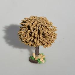Kvetinový záhon so soškou do domčeka pre bábiky, 12x9 cm