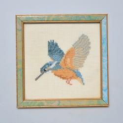 kolarikova cechy predane Gobelín - vyšívaný obraz Vtáčiky  28 x 24 cm