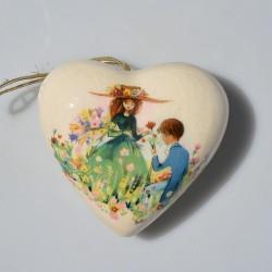 predane Keramický difuzér Srdce na sušenú levanduľu 8 x 7 cm