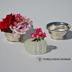 Postriebrená váza na kvety, silverplated, Ianthé,  10,5x10,5 cm