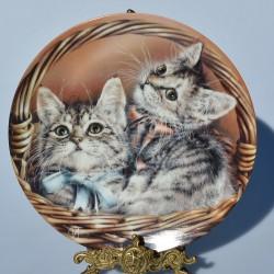 Porcelánový tanier Cats Cause Chaos COALPORT 19,5 cm