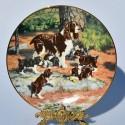 Porcelánový tanier Labrador Retrievers, Hamilton Collection 21,5 cm + certifikát