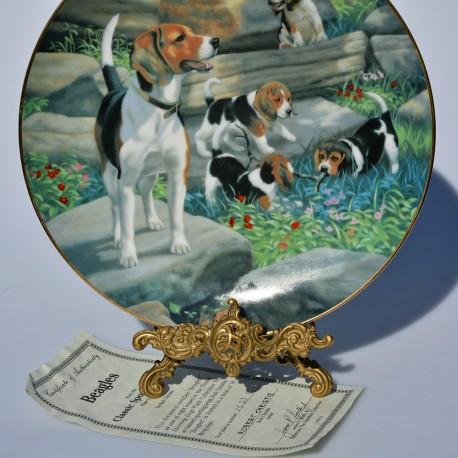 Porcelánový tanier Irish Setters, Hamilton Collection 21,5 cm + certifikát