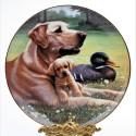 Porcelánový tanier Golden Moments, Hamilton Collection 21,5 cm