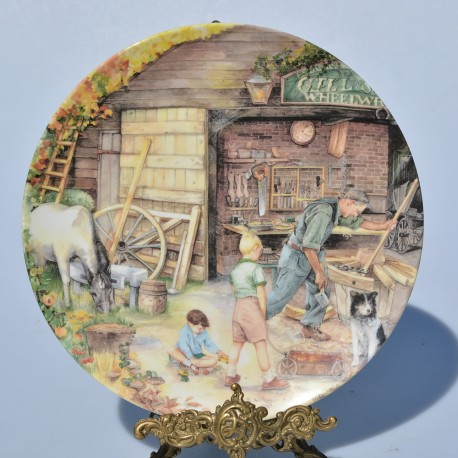 Porcelánový tanier The Potter + certifikát, Royal Doulton 21 cm, originál.obal
