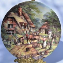 """Porcelánový tanier  """"The Apple Pickers"""" + certifikát"""