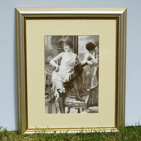Obraz, print Dáma pri zrkadle 40x33,5 cm