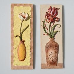 predane SADA 2 ks obrázky Peppers a Kanvica s hruškou 22,8 x 7,8 cm