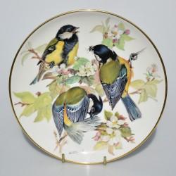 predane Porcelánový tanier Kohlmeise, Alt Tirschenreuth 22 karát zlato, 19,5 cm