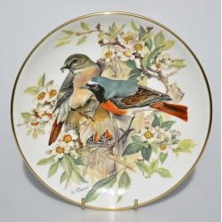 predane Porcelánový tanier Gartenrotschwanz, Alt Tirschenreuth 22 karát zlato, 19,5 cm