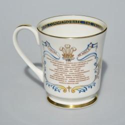 Porcelánový hrnček + rodokmeň, The Marriage of Prince Charles and Lady Diana, 300 ml