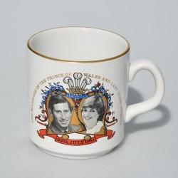 ? cena , text Keramický hrnček The Marriage of Charles and Diana, Liverpool, objem 300 ml