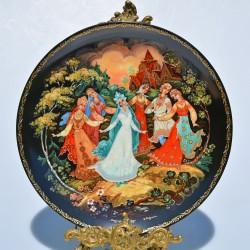 ? rezervovane fb x Porcelánový tanier The 3 Little Pigs, Knowles 21,5 cm + orig.obal