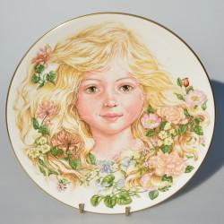 predane x Porcelánový tanier 2.Shakespeare´s Plate, Royal Worcester, 21 cm. 22karát zlato + certifikát + pôv.obal