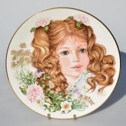predane x Porcelánový tanier The Keats Plate, Royal Worcester, 21 cm. 22karát zlato + certifikát