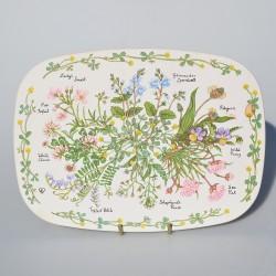 Sada - 3 ks plechové obrázky / podložky pod taniere Deti 20,5 cm