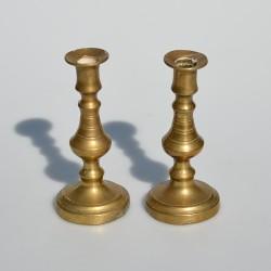 Mosadzný svietnik 13x7 cm