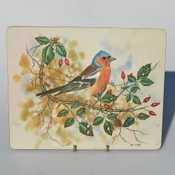 Sada - Vtáčiky - 6 ks obrázky, podložky pod taniere, 22 cm, melamín