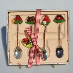 Sada Jahody - keramická miska + lyžička v orig.balení, lyžička 11 cm
