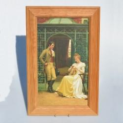 Obraz - print Dvojica v daždi 43x28 cm