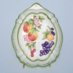 Veľká porcelánová forma Ovocie, Franklin Mint 24x19x8 cm, malá chyba v glazúre