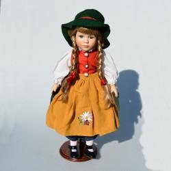 45 cm Porcelánová bábika s meštekom Fiona The Leonardo Collection, orig.obal + stojan