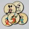 Zberateľská sada - 5 ks malé podložky Disney, 10 cm
