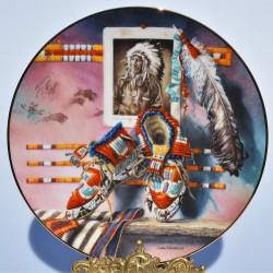 Porcelánový tanier - PÝCHA SIOUXU
