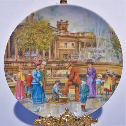 Porcelánový tanier - INDIÁNSKE MOKASÍNY
