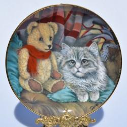 Porcelánový tanier  tri mačiatka