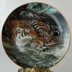 Porcelánový tanier Tigere 02