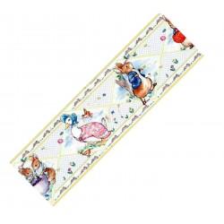 1:12 Bordúra na tapety do domčeka Ružové medvedíky - 1 kus A4
