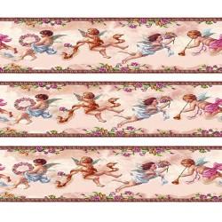 1:12 Bordúra na tapety do domčeka Zelení anjeli - 1 kus A4