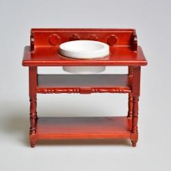 1:12 Drevený rohový stolík do domčeka pre bábiky